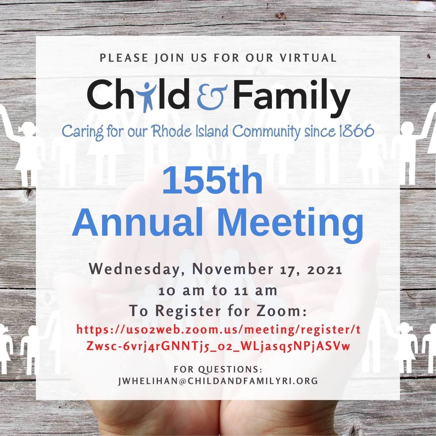 Child & Family's 155th Annual Meeting Invite for 11.17.21 (DRAFT 10.13.21)
