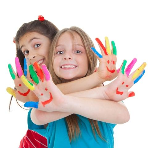 Finger Paint Girls Resized
