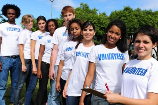 Volunteers with Shirts Resized