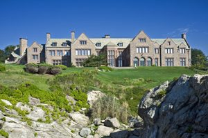 Mansion Overlooking the Ocean on the Newport Rhode Island Cliff Walk