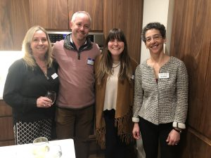 (L to R) Sharon Alemany, Child & Family Board of Directors Member, Christopher Bender, Co-Owner of Stoneacre Brasserie, Nicole Canning, Anne Berman, Chile & Family Board of Directors